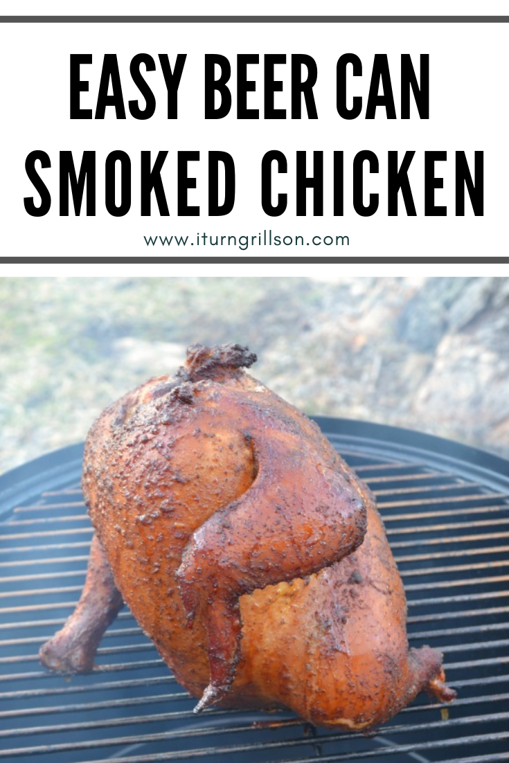 easy beer can smoked chicken