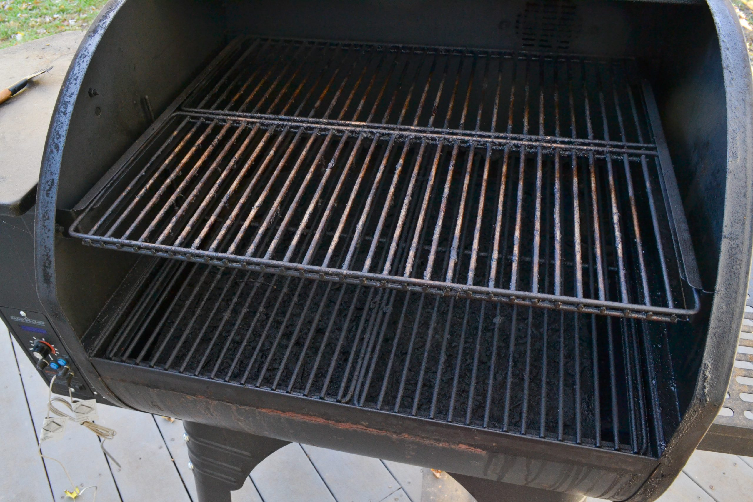 Camp Chef Pellet Smoker BEFORE cleaning